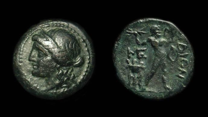 Ancient Coins - MESSENIA, Messene. Æ Hexachalkon (6.31g), c. 2nd Century BC.