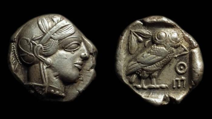 Ancient Coins - ATTICA, Athens. AR Tetradrachm (16.88g), c. 449-413 BC.
