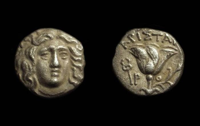 Ancient Coins - KARIA, Islands off. Rhodos. AR Drachm (2.46g), c. 205-188 BC.