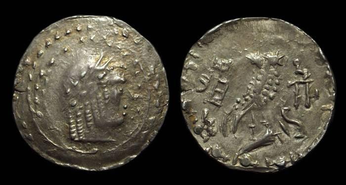 Ancient Coins - ARABIA. Himyarites, c. 100-24 BC. AR Unit (5.47g), 28mm.