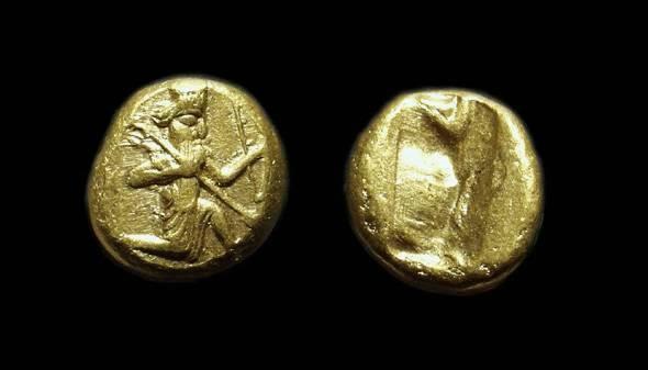 Ancient Coins - PERSIAN EMPIRE, Time of Darios I to Xerxes II, c. 485-420 BC. AV Daric (8.41g).