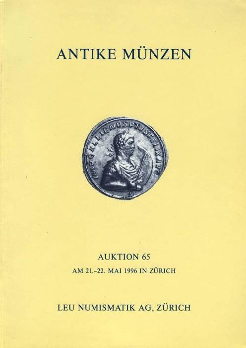 Ancient Coins - Leu Numismatics: Auction 65, 21-22 May 1996.