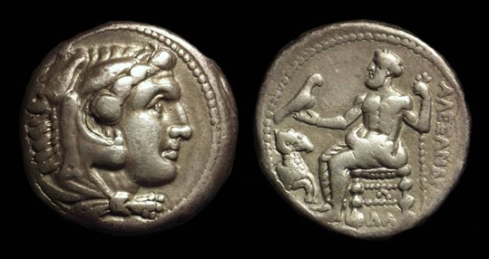 Ancient Coins - MACEDON, Kings of. Alexander the Great, 336-323 BC. AR Tetradrachm (16.95g). Damascus mint. Lifetime issue.