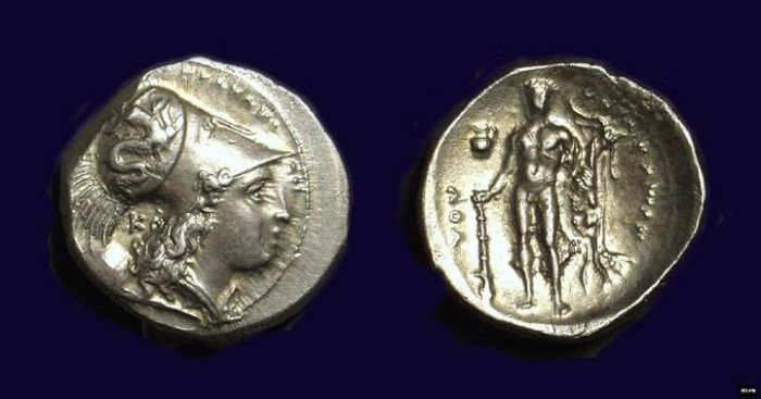 Ancient Coins - LUCANIA, Herakleia. AR Stater (7.72g), c. 300 BC.