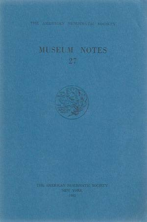 Ancient Coins - Oakley. Wreathed Tetradrachms of Kyme in ANS Museum Notes 27 (1982).