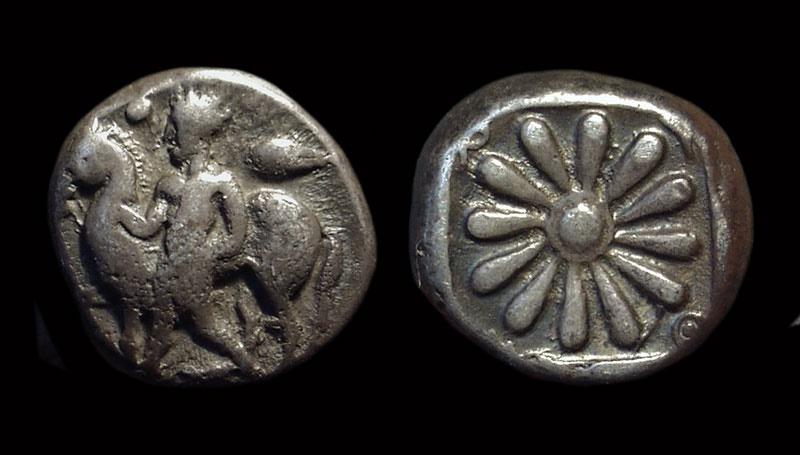 Ancient Coins - IONIA, Erythrai. AR Drachm (4.58g.), c. 480-450 BC.