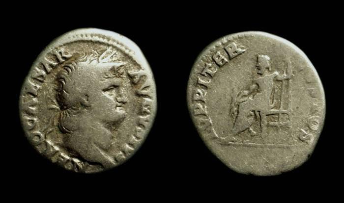 Ancient Coins - NERO, AD 54-68. AR Denarius (3.17g).