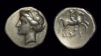 Ancient Coins - CAMPANO-TARANTINE. AR Didrachm (6.86g), c. 281-238 BC.
