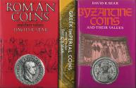 Ancient Coins - Sear.  Roman, Greek Imperial & Byzantine Coins & their Values. 3 standard works.