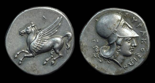 Ancient Coins - SICILY, Syracuse. AR Stater (8.65g), Time of Timoleon, c. 344-317 BC.