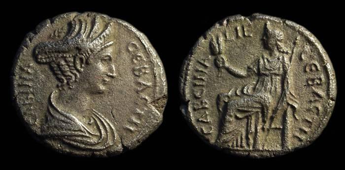 Ancient Coins - EGYPT. Sabina, Wife of Hadrian. AR Tetradrachm (12.61g).