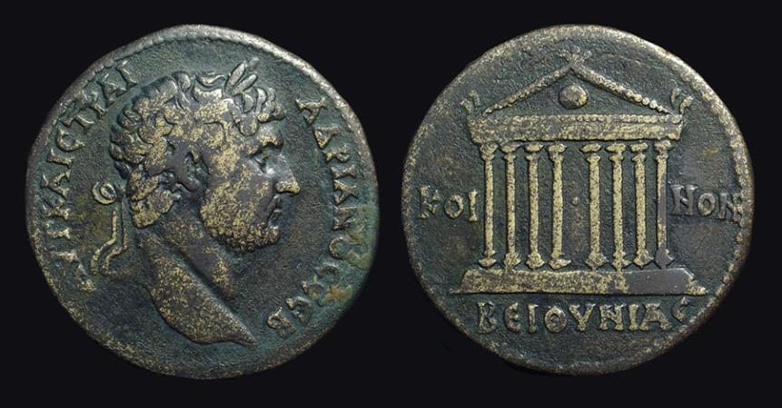 HADRIAN, AD 117-138  Æ 34 (25 66g) of Bithynia