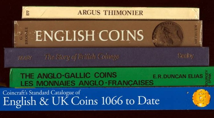 Ancient Coins - Lot of 5 Books: English and French numismatics