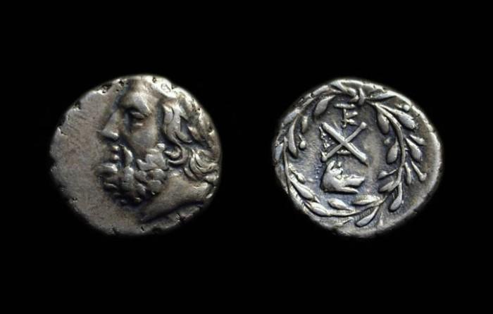 Ancient Coins - ARGOLIS, Argos. AR Hemidrachm (2.43g), c. 195-188 BC.
