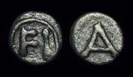 Ancient Coins - ARGOLIS, Argos. Æ Tessera (1.97g), c. 4th-2nd c. BC.  Ex: BCD