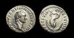 Ancient Coins - DOMITIAN, AD 81-96. AR Denarius (3.14g).