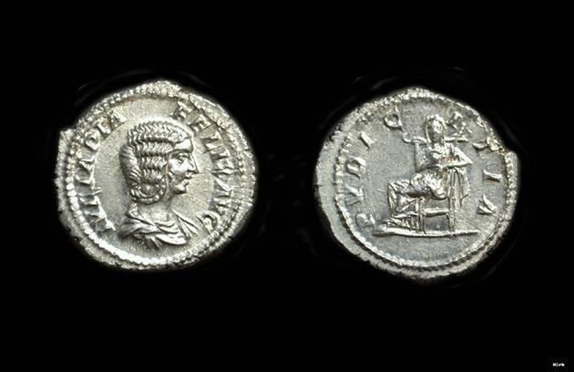 Ancient Coins - JULIA DOMNA, Wife of Septimius Severus. AR Denarius (3.43g).