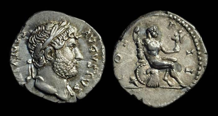 Ancient Coins - HADRIAN, AD 117-138. AR Denarius (3.54g).