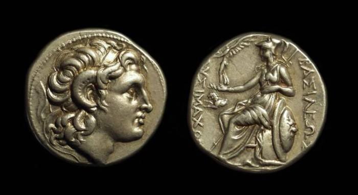 Ancient Coins - KINGDOM OF THRACE. Lysimachos, 323-281 BC. AR Tetradrachm (16.19g).