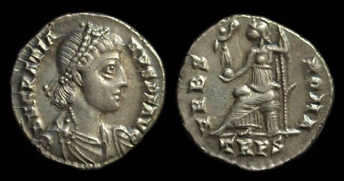 Ancient Coins - GRATIAN, AD 367-383. AR Siliqua (1.94g).