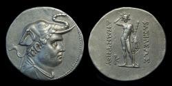 Ancient Coins - BAKTRIAN KINGDOM, Demetrios I, c. 200-185 BC. AR Tetradrachm (16.94g).