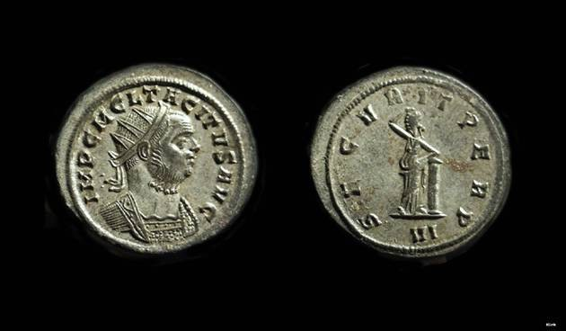 Ancient Coins - TACITUS, AD 275-276. Billon Antoninianus (3.93g).