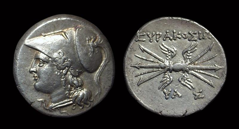 Ancient Coins - SICILY, Syracuse. AR 8-Litrai (6.77g), c. 215-210 BC.