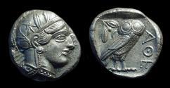 Ancient Coins - ATTICA, Athens. AR Tetradrachm (17.20g), c. 454-404 BC.