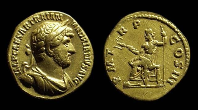 Ancient Coins - HADRIAN, AD 117-138. Gold Aureus (7.06g).