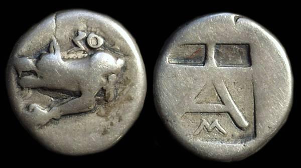 Ancient Coins - ARGOLIS, Argos. AR Triobol (2.70g), c. 450-420 BC.