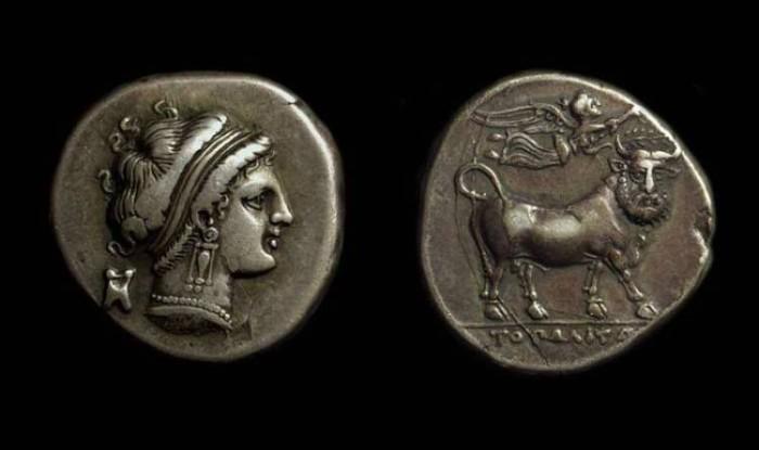 Ancient Coins - CAMPANIA, Neapolis. AR Didrachm (6.82g), c. 320-300 BC.
