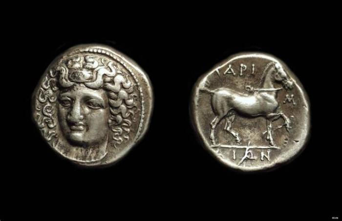 Ancient Coins - THESSALY, Larissa. AR Didrachm (12.12g), c. 350-330 BC.