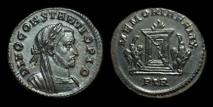 Ancient Coins - CONSTANTIUS I, AD 305-306. Billon Follis (5.61g).