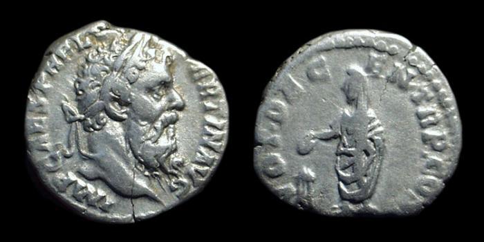 Ancient Coins - PERTINAX, AD 193. AR Denarius (3.19g).