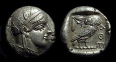 Ancient Coins - ATTICA, Athens. AR Tetradrachm (17.14g), c. 454-404 BC.
