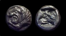 Ancient Coins - THRACE / ASIA MINOR, Uncertain. AR Tetrobol (2.92g), c. 500 BC. RRR!  pedigree