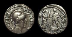 Ancient Coins - Cnaeus Pompey Jr., c. 46-45 BC. AR Denarius (3.50g).