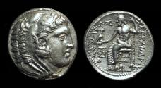 Ancient Coins - MACEDON, Kings of.  Alexander the Great, 336-323 BC. AR Tetradrachm (17.20g).