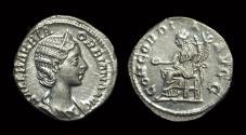 Ancient Coins - Orbiana, Wife of Severus Alexander. AR Denarius (2.77g).