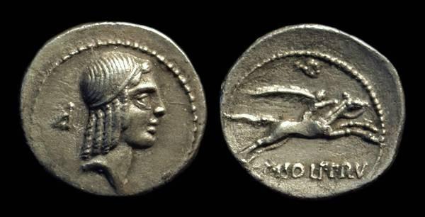 Ancient Coins - C Calpurnius Piso Frugi, c. 81 BC. AR Denarius (3.38g).