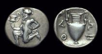 Ancient Coins - THRACE, Islands off. Thasos. AR Trihemiobol (0.86g), c. 411-404 BC.