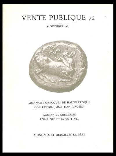 Ancient Coins - Rosen. M & M 72 Auction, 6 October 1987. Jonathan P. Rosen collection.