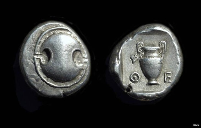 Ancient Coins - BOEOTIA, Thebes. AR Stater (12.20g), c. 426-395 BC.