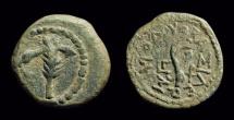 JUDAEA. Herod I, c. 40-4 BC. Æ Prutah (2.47g). pedigree