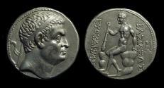 Ancient Coins - BAKTRIAN KINGDOM, Euthydemos, c. 230-200 BC. AR Tetradrachm (16.56g).