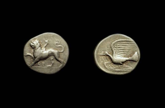 Ancient Coins - SIKYONIA, Sikyon. AR Triobol (2.78g), c. 330-280 BC.