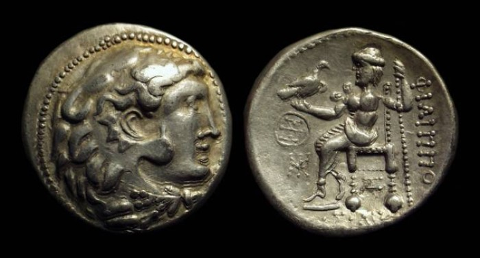 Ancient Coins - Danubian Celts, Thraco-Getae (Northern Bulgaria). AR Tetradrachm (16.80g).