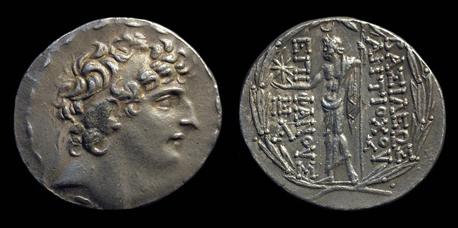 Ancient Coins - SELEUKID KINGDOM. Antiochos VIII, 121-96 BC. AR Tetradrachm (16.56g). Ex: NFA