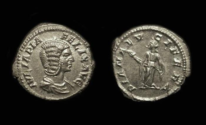 Ancient Coins - Julia Domna, Wife of Septimius Severus. AR Denarius (3.09g).