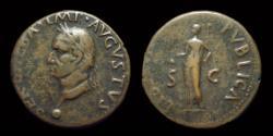 Ancient Coins - GALBA, AD 68-69. Æ As (9.20g). Tarraco mint.